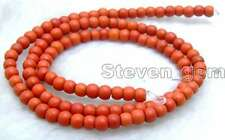 """SALE Small 4mm Round Red TURQUOISE beads strand 15""""-los616"""
