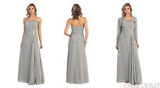 Simple Mother of the Bride Formal Dress with Jacket Plus Size Long Gown Modest