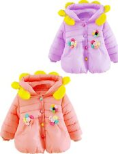 Kids Baby Infant Girls Flowers Winter Hoodies Coats Jacket Outwear Jumper 0-36 M