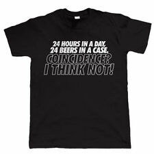 24 Hours In A Day Mens Funny Beer T Shirt