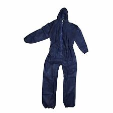 Warrior Disposable Coveralls Overalls Boiler Suit Hood Painters Blue White