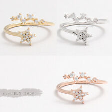 Cubic Zirconia Big Dipper 7 Seven Stars Constellation Gift Ring Adjustable Size