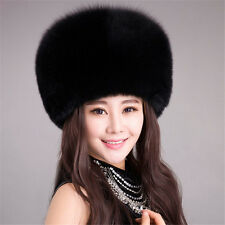 Ladies Warm Furry Faux Rabbit Fur Hat Russian Women Winter Cossack Cap