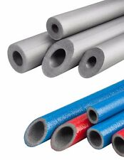 Strong Pipe Insulation Foam 8 x 0.9m Blue Red Coated Polyethylene Lagging Wrap