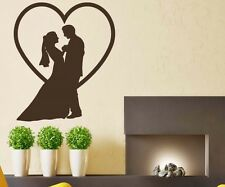 Wall Tattoo Lovers, Love, Love Couple Heart Wall Dance Men Sticker Wedding 1A036
