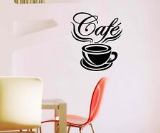 Wall tattoo Cafe Coffee Quote Cup Kitchen Coffee Sticker Wall Decal 5Q547