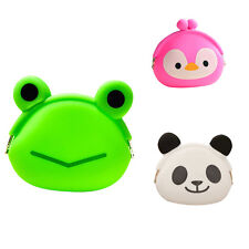 Cute Animals Silicone Coin Purse Candy Jelly Silicone Coin bag Mini key Wallet