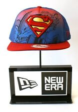 New Era 9FIFTY Superman Hero Scene Blue Mesh Red Logo Snapback Hat Baseball Cap