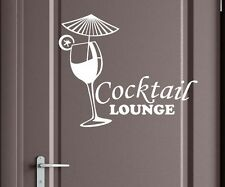 Door sticker Cocktail Lounge glass door decorative sticker tattoo sticker 3D651
