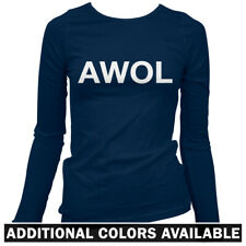 AWOL Women's Long Sleeve T-shirt LS - Military Army USMC USAF Navy Soldier  S-2X