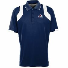 Colorado Avalanche Antigua Embroidered Xtra-Lite Blue Fusion Polo Golf Shirt