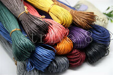 80Meter Waxed Cotton Cord Various Colours Lengths Available Jewelry Making DIY