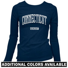 Connecticut Represent Women's Long Sleeve T-shirt LS - Bridgeport Hartford  S-2X