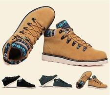 New  Mens Ankle Boots Warm suede sneaker rivet high top casual Military Shoes #