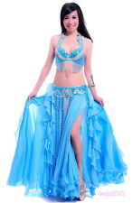 New Belly Dance Performance Costume Suit Bra&Belt&Skirt 34-40B/C 4 Size 11 Color