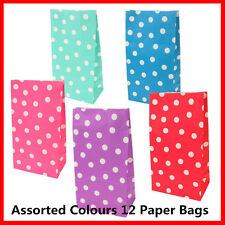 New 12X Dots Paper Bags Party Loot Lolly Bags Wedding Favor Gift Bag