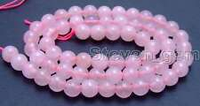 "SALE High quality 6mm Round Pink jade loose beads strands 15""-los609"
