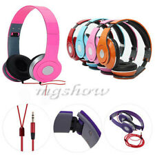 Over-Ear Adjustable 3.5mm Earphone Stereo Headset Headphone For  PC iPhone MP3 4
