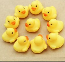 Cute Hot Mini Yellow Rubber Race Squeaky Bathing Duck Ducky Baby Toys
