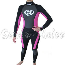 Maui & Sons 3/2 mm Woman's Neoprene Long Sleeve Surfing Suit Black/Pink
