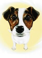 Jack Russell Terrier Print Dog Portrait Art Ready To Frame Weeze Mace