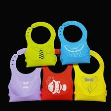 Baby Infants Kids Cute Silicone Bibs Baby Lunch Bibs Cute Waterproof Excellent
