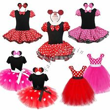 Baby Girl Minnie Mouse Halloween Outfit Costume Cosplay Tutu Dress Up+ Ear 2T-10