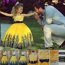girl Wedding dress Party Formal Flower Girls Dress baby Pageant dresses-G