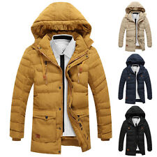 PJ Korean Mens Winter Warm Padded Hooded Coat Outerwear Tops Jackets Thicken New