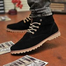 New Fashion British Mens Casual Lace Up Suede Ankle Boots Loafers Shoes Sneakers
