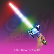 Light Up Flashing Space Sword Neon Wand Lazer LED Glow