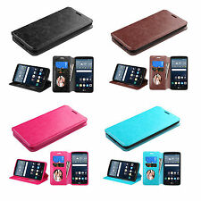 For LG G Stylo LS770/G4 Stylus Luxury Leather Wallet Card Pouch Back Case Cover