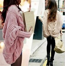 Lady Korean Winter/Fall Sweater Cardigan Long Bat-wing Sleeves Casual Jacket