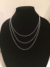 """New! 925 Sterling Silver Diamond-Cut Snake Chain Necklace 1mm 025 20"""", 22"""", 24"""""""