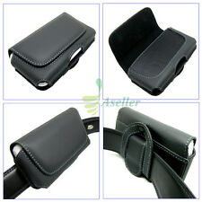 Compact Flip Horizontal Leather Belt Clip Loop Holster Case Pouch Cover SKin 3.5