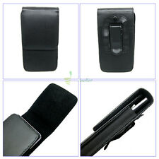 Compact Flip Magnet Vertical Leather Belt Clip Loop Holster Case Pouch Cover 3.5
