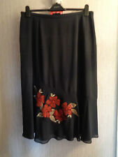 BNWT Ladies Jacques Vert Various Size Black Fully Lined Maxi Skirt RRP £95
