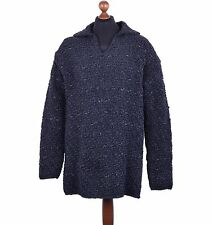 DOLCE & GABBANA Oversize Leather Knitted Knight-Style Sweater Black 04088