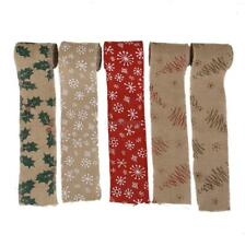 3M Natural Jute Hessian Burlap Ribbon Snowflake Xmas Tape wedding Craft Decor