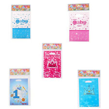 Baby Shower 6pcs Treat Bags Goody Loot Plastic Bag Christening Party Favor Decor