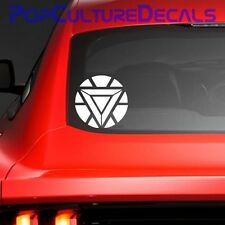 Iron Man Arc Reactor Vinyl Decal, Car Window Decal, Avengers, Marvel