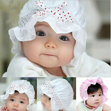 Newborn Baby Girl Boy Fashion Summer Sun Polka Dots Beanie Hat Cap 2-12 Months