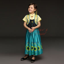 FROZEN Princess Anna Elsa Girls Cosplay Costume Christmas Party Formal Dress