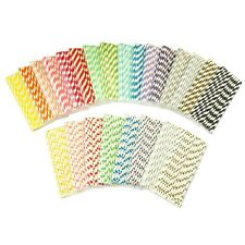 New 25x Striped Polka Dot Paper Drinking Straws Wedding Birthday Party Supplies