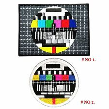 TV Broadcast Test Screen Patch Embroidered Iron on Television Retro Applique New