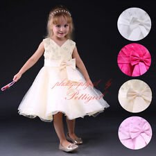 Formal Toddler Baby Girl Dress Princess Wedding Bridesmaid Flower Party Dresses