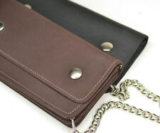 American Made Leather Trucker Large Chain Wallet Chain Wallet, Hand made in USA