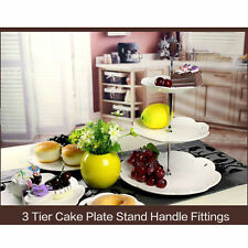 1 Set 2 or 3 Tier Cake Plate Stand Handle Crown Fitting Metal Wedding Party Good