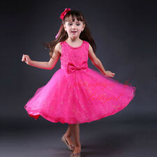Infant Girl Bow Flower Princess Dress Wedding Party Formal Fancy Holiday Dresses