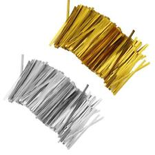 Chic 800 Pcs Metallic Twist Ties for Candy Lollipop Cake Pop Cello Bag Party 8cm